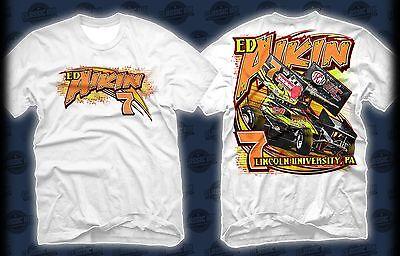 Ed Aikin 2014 #7 Tan Racing Collectibles Urc Sprint White Team Shirt Free Ship! Sports Mem, Cards & Fan Shop