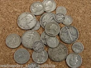 Pre 1950 Silver Usa Coins Lot Of 1 Face Value Dimes