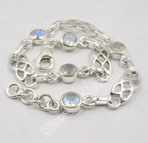 ".925 Silver Original RAINBOW MOONSTONE DECO Cast Bracelet 7.7/"" ONE OF A KIND"