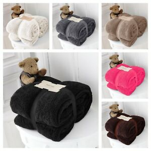 LARGE-SOFT-WARM-TEDDY-BEAR-SHERPA-FLEECE-BLANKET-SOFA-BED-THROW-DOUBLE-KING