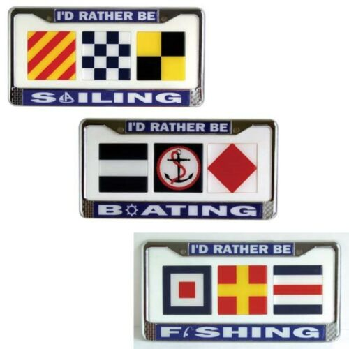 """Ultimate Products 33LFFC License Frame/""""I/'d Rather Be Fishing/"""""""
