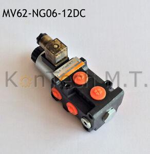 Hydraulik-Magnetventil-6-2-Wegeventil-NG06-12V-DC-Leckoelanschluss-inkl-Stecker