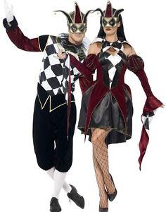 paar herren damen gothik harlekin hofnarr karneval. Black Bedroom Furniture Sets. Home Design Ideas