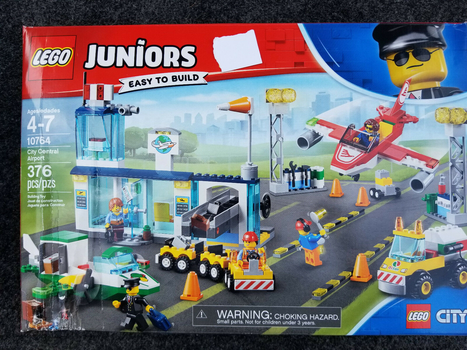 LEGO Juniors City Central Airport 10764 Building Kit (376 Piece) BRAND NEW
