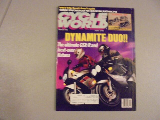 MARCH 1989 CYCLE WORLD MAGAZINE,SUZUKI GSX-R1100,KATANA 750,PASO 906,DUCATI,AMA