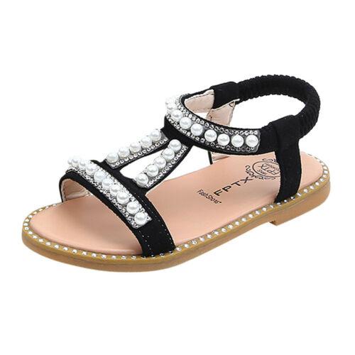 Bébé filles mignon strass perle cristal unique princesse romaine Chaussures Sandales