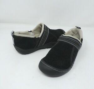 J-41-Black-Stylus-Slip-On-Faux-Fur-Trail-Walking-Shoes-Size-7-M