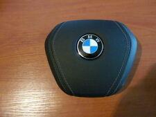 AIRBAG ZAŚLEPKA KIEROWCY DRIVER COVER BMW 7 G11 G12 SKÓRA LEATHER OEM
