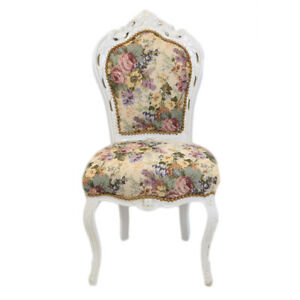 Attractive Image Is Loading CHAIRS FRANCE BAROQUE STYLE DINING ROYAL CHAIR WHITE
