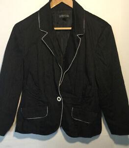 Rampage-Womens-Long-Sleeve-Single-Button-Blazer-Jacket-Black-Size-Small