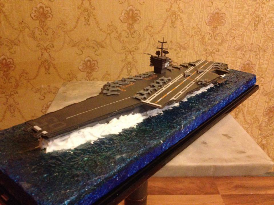 US Navy Enterprise carrier class model CVN-65 1 700 with diorama