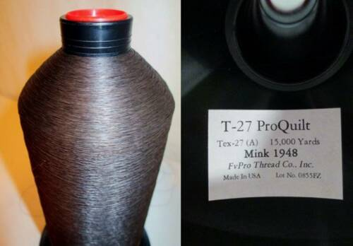 NOS Monocord Bonded Nylon Thread ProQuilt T-27 Tex-27 Brown Mink 15,000 yard Spo
