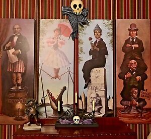 New-Style-Haunted-Mansion-Stretching-Room-Gallery-set-of-4-16x48-034-HTF-Disneyland