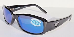 fbe1146e0f COSTA DEL MAR Vela Sunglasses POLARIZED Black Blue Mirror 400G Glass ...