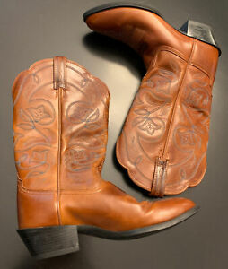 Ariat-Boots-Style-15740-Womens-Size-6B-Brown-Leather-Embroidered-Western