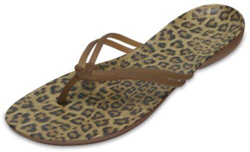Crocs Nouveau Isabella Graphique Léopard confort Femme Sandales Plates Tongs UK 3-9