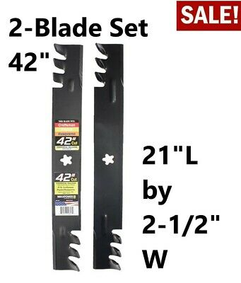 """HUSQVARNA REPLACEMENT BLADES FOR 42/"""" DECK STAR HOLE,NEW CRAFTSMAN MADE IN USA"""