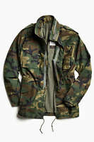 Alpha Industries M-65 Field Rain Resistant Coat Men's Army Jacket Size Large