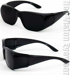 Medium-Will-Fit-Over-Most-Rx-Glasses-Sunglasses-Safety-Black-Super-Dark-Lens-265