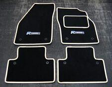 Fußmatten in Schwarz/Beige Leiste passend füR Volvo S40/V50 04-12 + R Design