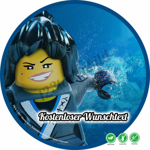 Tortenaufleger Geburtstag Tortenbild Zuckerbild Oblate Lego Ninjago 09