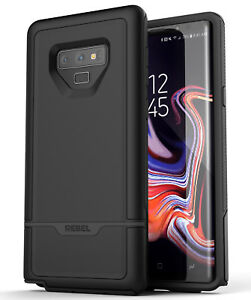detailed look 3c278 88e7d Details about Encased Samsung Galaxy Note 9 Rugged Case, Protective Tough  Phone Cover Black