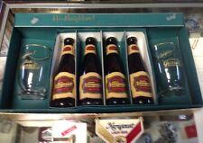 1957 NARRAGANSETT SALESMAN KIT BOTTLES, GLASSES, TIE CLIP BOTTLE OPENER