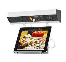 Cocina debajo del gabinete 2g Socket estación de carga USB Sistema De Audio Para Ipad