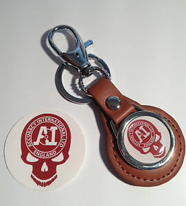 Details about ACCURACY INTERNATIONAL `SKULL` TAN LEATHER KEY RING & PHONE  STICKER