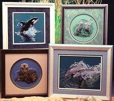 Cross My Heart OCEAN ANIMALS 7 Cross Stitch Charts/Booklet ~ marine life/mammals