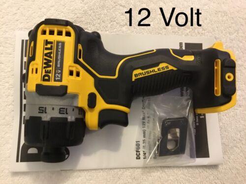 "New Dewalt Xtreme DCF601B 12V Max 1//4/"" Hex Brushless ScrewDriver Bare Tool"