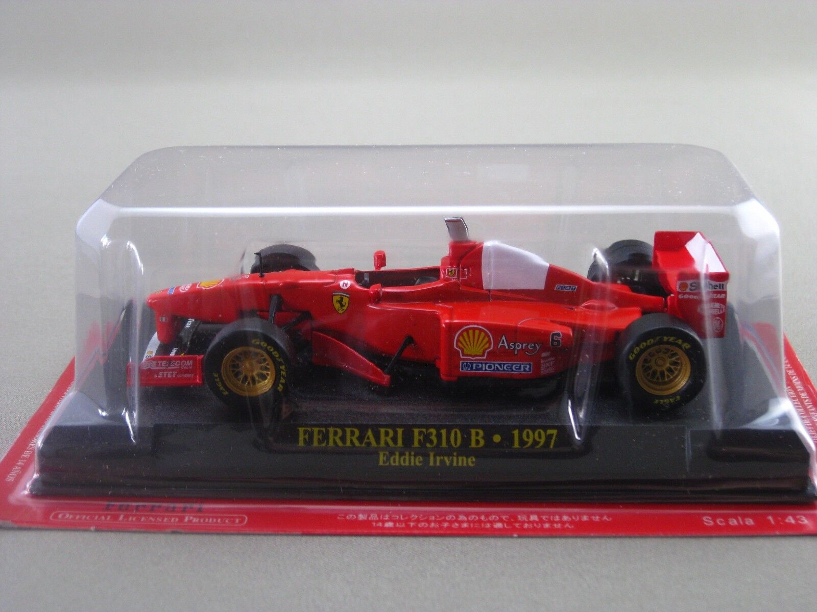 Ferrari F310 B EDDIE IRVINE 1997 hachette 1:43 Diecast Model Car Vol.50