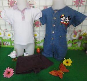 vêtements occasion fille 2 ans,combi short jean DISNEY,polo,short ... d87ba488f267