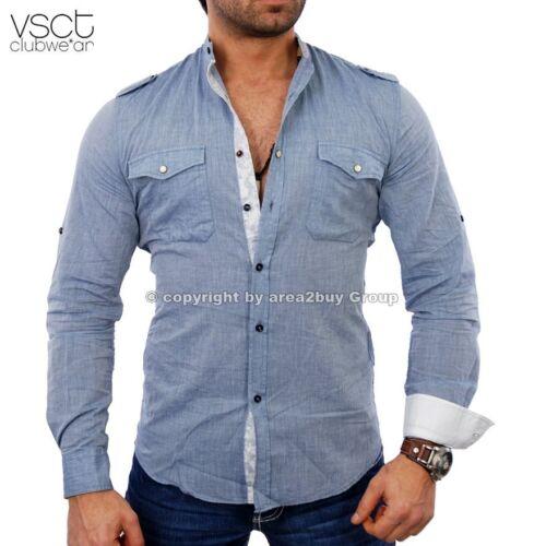 VSCT v-5640395 fiesta club style verano camisa azul-sale!