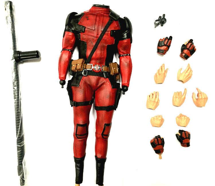 Loose cifra  1 6  caliente giocattoli MMS490 Deadpool Xmen Marvel Deadpool corpo & Uniform  wholesape economico