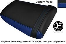 BLACK & R BLUE VINYL CUSTOM FOR HONDA CBR 600 RR3 RR4 03-04 REAR SEAT COVER ONLY