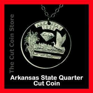 Arkansas-Natural-State-25-AR-Quarter-Cut-Coin-Jewelry-Necklace-Diamonds-Park