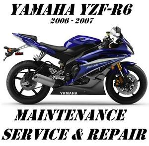 yamaha yzf r6 r6 yzfr600 workshop service maintenance repair manual rh ebay com 2017 Yamaha R6 2017 Yamaha R6