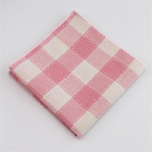 Plaid Handkerchief New Cotton Pocket Square Classic Suit Towel Striped Hankies