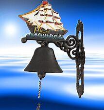 Segel Schiff Geschenk Wand Glocke Nautic aus Gescher klingt gut Eisen Guss