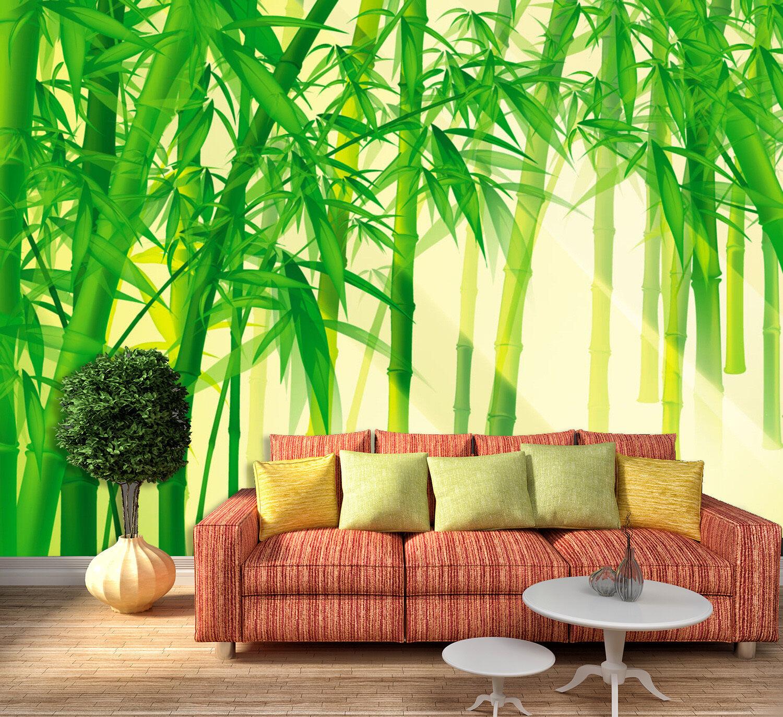 3D greener Bambus 25 Fototapeten Wandbild Bild Tapete Familie Kinder