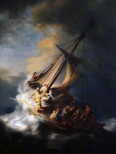 REMBRANDT-CHRIST-IN-STORM-ON-LAKE-OF-GALILEE-OLD-ART-PAINTING-PRINT-2623OM