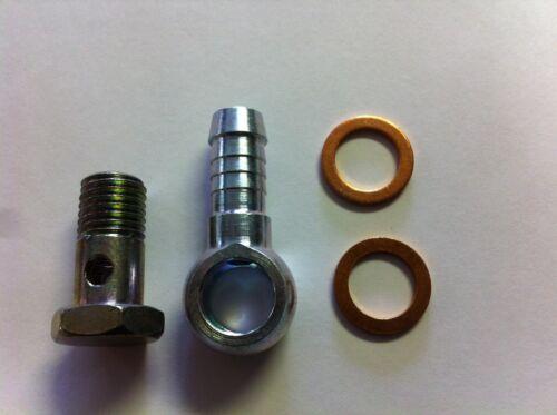 Banjo 12 X 1.5 Thread bolt /&  washers for Line ID 10 mm 3//8 Bolt head 17mm