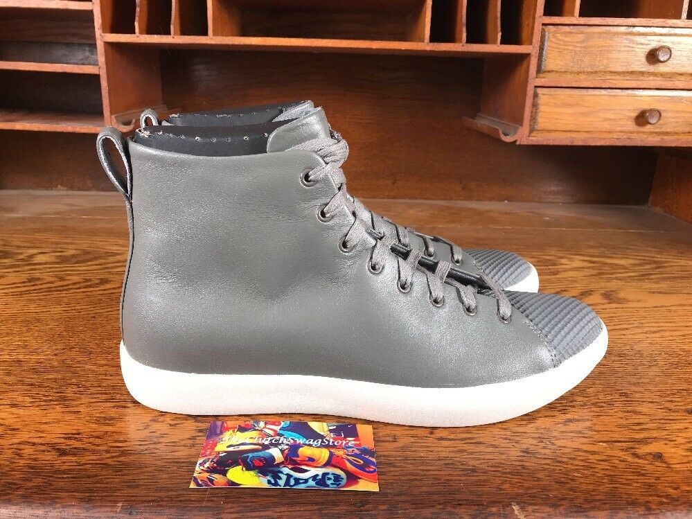 Converse Chuck Taylor All Star Leather Modern Hi Gris /blanc hommes
