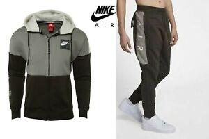 Nike-AIR-Men-039-s-Fleece-Hoodie-886044-004-or-Track-Bottom-886048-355-Contrast-Col