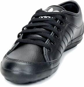 Details zu Adidas G96258 Nizza Remodel Leder Schuhe Running Sport Sneaker 44 Blanco Black