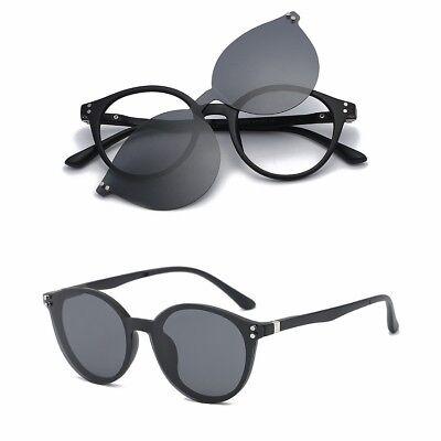 Montature Clip Magnetico Rotondo Rx Flessibile Vintage Occhiali Polarizzati