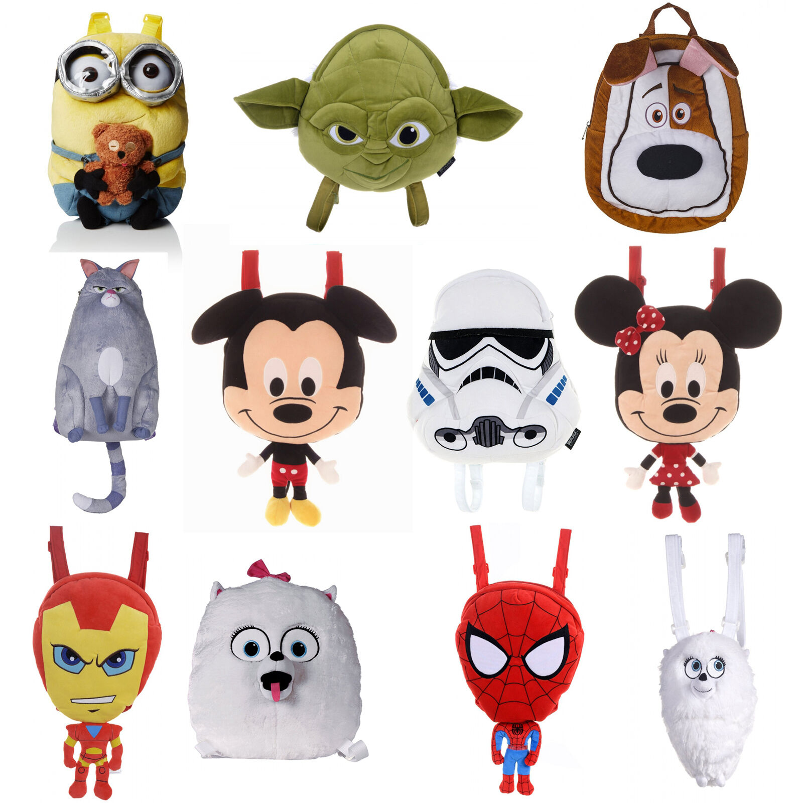 Soft Toys With Pockets : Kids disney tv movie character plush soft toy school