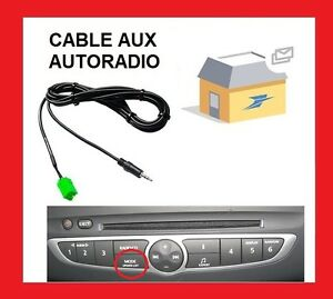 entree auxiliaire autoradio renault pour laguna 2 ou. Black Bedroom Furniture Sets. Home Design Ideas