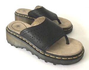 a618de8ec7e3 Dr Doc Martens Air Cushion Womens Size US 6 Sole Black Leather Thong ...